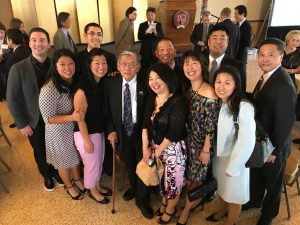Kumamoto Kenjin Kai members with the Honorable Norman Mineta at the 2016 JCCCW Tomodachi Luncheon